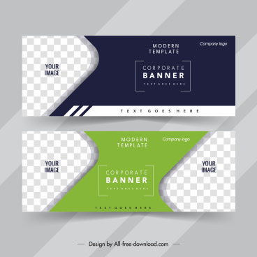 business banner templates elegant dark bright checkered decor