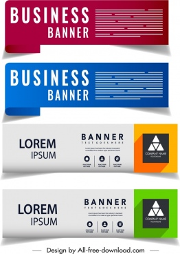 business banner templates modern horizontal design
