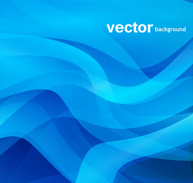 business blue colorful vector background wave design
