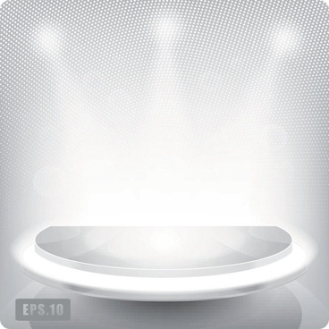 business booth lighting effects vector background