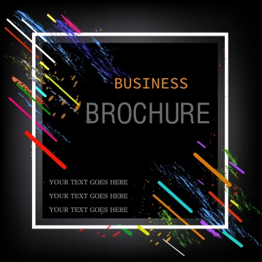 business brochure background colorful grunge black decor