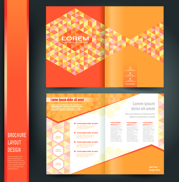 business brochure cover layout design vector