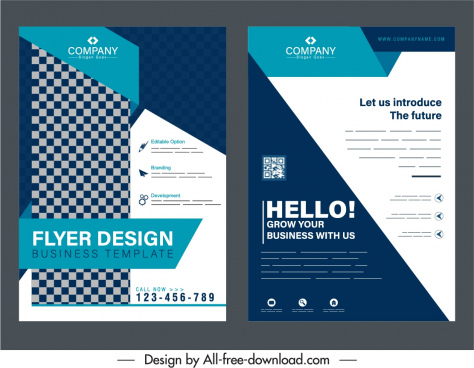 business brochure cover templates elegant contrast decor