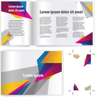 business brochure cover vector set