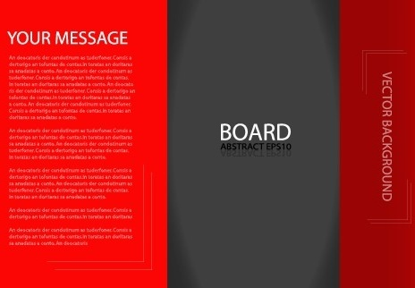 business brochure template background vector set