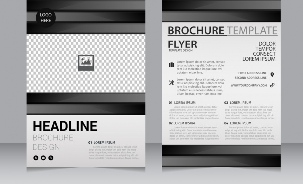Business brochure template black white checkered decoration free business brochure template black white checkered decoration free vector in adobe illustrator ai format encapsulated postscript eps eps format wajeb Gallery