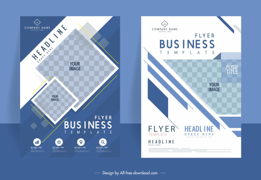 business brochure template elegant geometric checkered decor
