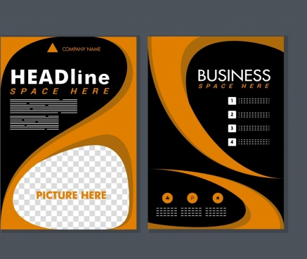 business brochure template modern curves decoration