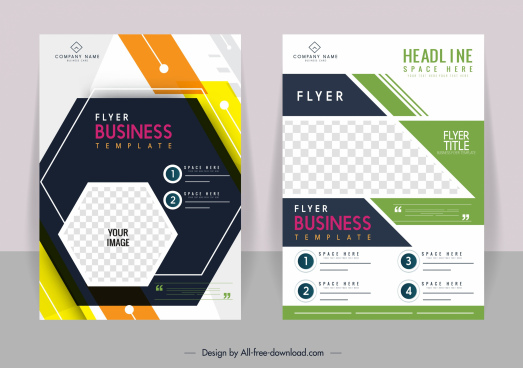 business brochure templates bright colorful modern geometric decor