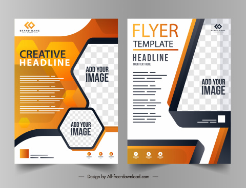 business brochure templates colorful modern decor