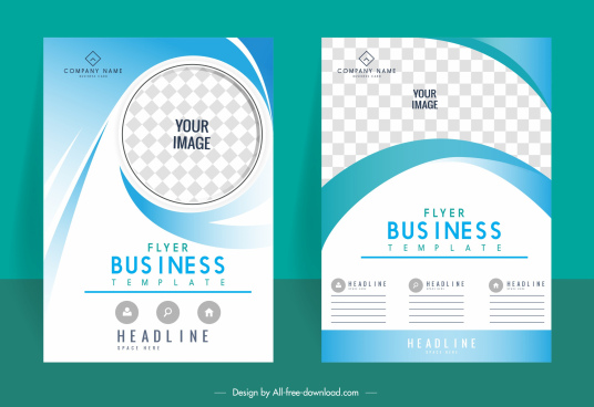 business brochure templates elegant bright modern checkered decor