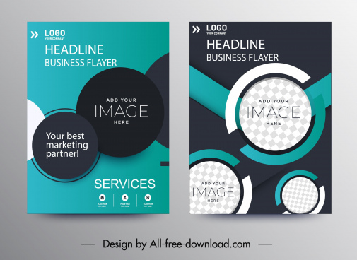 business brochure templates elegant dark modern circles decor