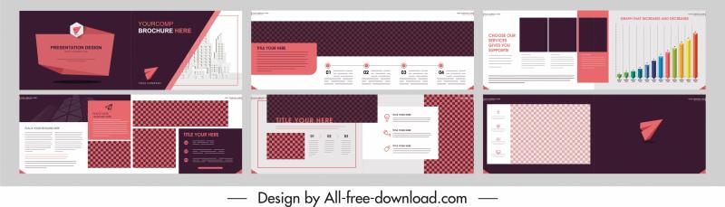 business brochure templates horizontal layout modern elegance