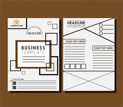 business brochure templates layout design