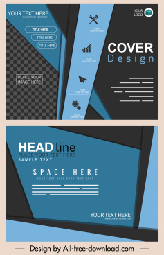 business brochure templates modern dark colored decor