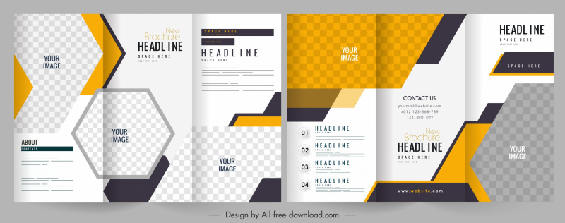 business brochure templates trifold shape elegant bright decor