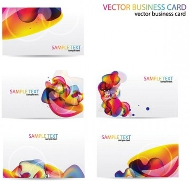 business card abstract illustration vector