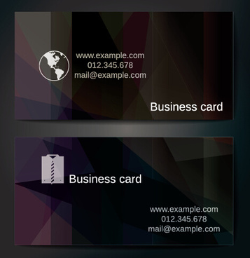 business card abstract shape vector template