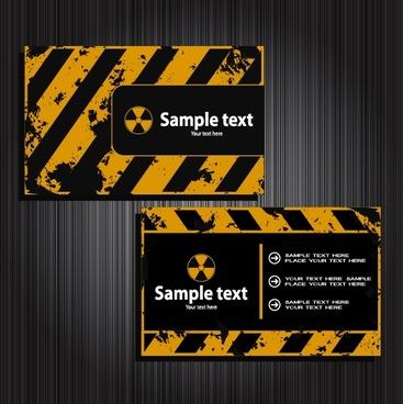 name card templates radioactive theme retro design