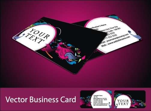 business card template elegant colorful dark abstract decor