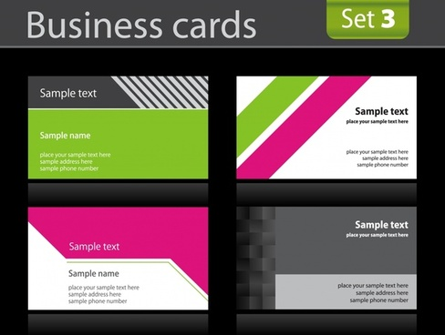 business card templates colorful modern design