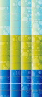 business card background vector set