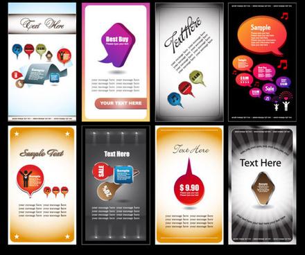 business card elements vector set