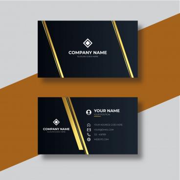 business card golden color design template