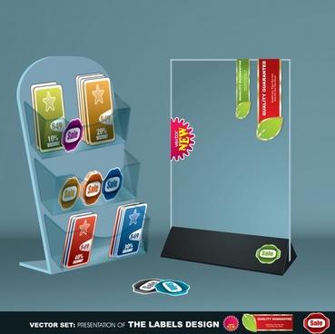 business card holder office supplies vector