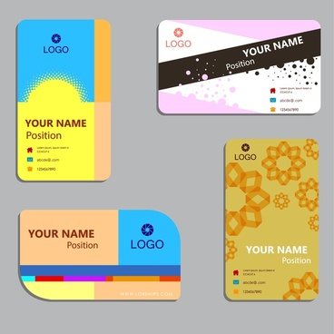 business card layout sets design with various styles
