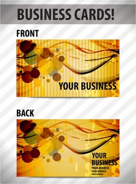 business card template 01 vector