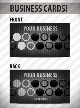 business card template 02 vector