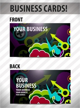 business card template 03 vector