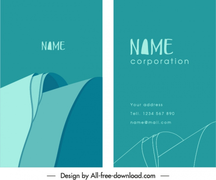 business card template 3d abstraction shape sketch