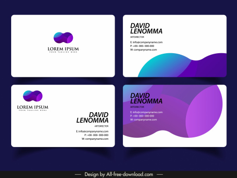 business card template abstract color blended motion decor