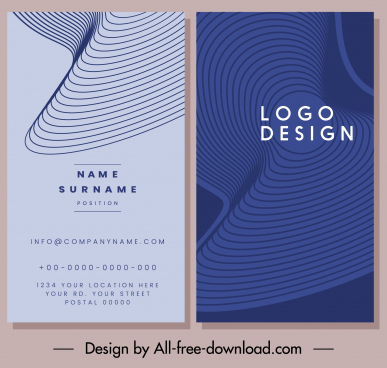 business card template abstract spiral 3d shapes vertical design