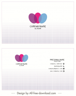business card template bright design colorful ovals decor