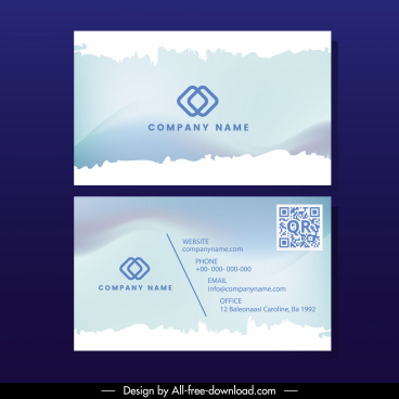 business card template bright grunge surface decor