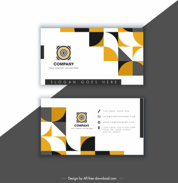 business card template bright modern geometric abstract decor