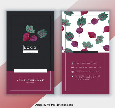 business card template classic beets decor