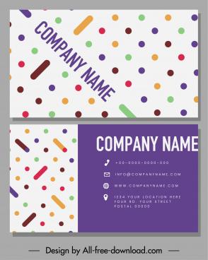 business card template colorful flat geometric shapes decor