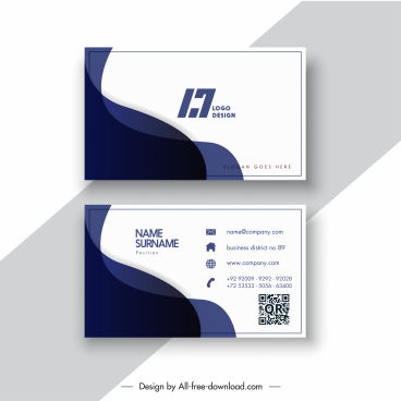 business card template contrast flat curves decor