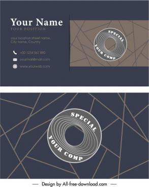 business card template dark elegance flat geometric decor