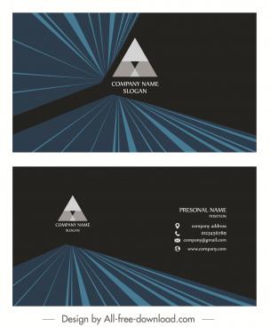 business card template dark modern 3d dynamic design