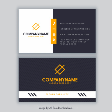 business card template elegant black white decor