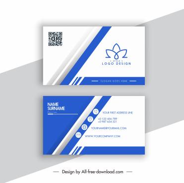business card template elegant bright lotus logotype