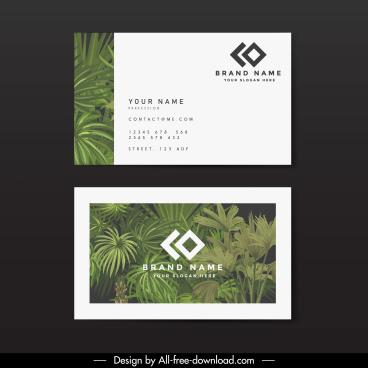 business card template elegant classical trees decor