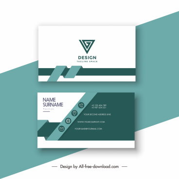 business card template elegant contrast 3d ribbon decor