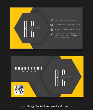 business card template elegant contrast geometric decor