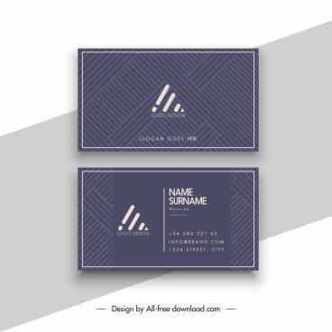 business card template elegant dark geometric layout